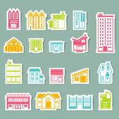 建筑图标设置 — 图库矢量图片