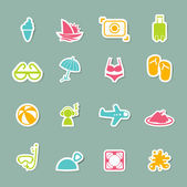 Summer Icons set — Stock Vector
