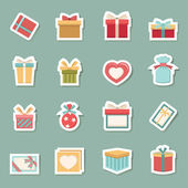 Gift box color icons — Stock Vector