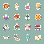 Circus color icons — Stock Vector