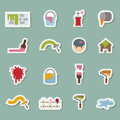 Painters  color icons — Stock Vector
