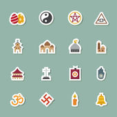 Religion color icons — Stock Vector