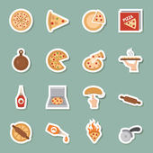 Pizza color icons — Stock Vector