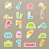 Carpentry icons set — Stock Vector