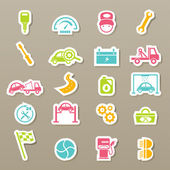 Car service maintenance icons set — Stock Vector
