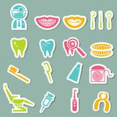 Dental Icons — Stock Vector