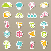Season icons set — Stock Vector