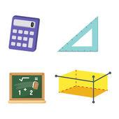 Mathematics set vector — Stock Vector