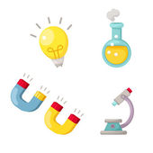 Science set vector — Stock Vector