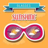 Sunshine glasses background — Stock Vector