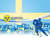 Sweden - Ice Hockey National Team — Stock Vector