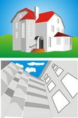 Building House — Stock Vector