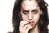 Beaten up girl with deep look — Stock Photo