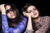 Tired girls — Stock fotografie