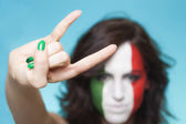 Italian supporter for FIFA 2014 gesture — Foto Stock