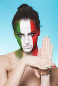Italienska anhängare för fifa 2014 gester — Stockfoto