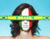 意大利支持国际足联 2014年巴西国旗 — 图库照片