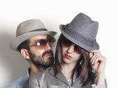 Gangster-paar — Stockfoto