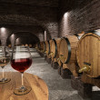 Ancient wine cellar — Stock Photo #43414993