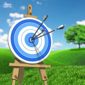 Three arrows on target — Stock Photo