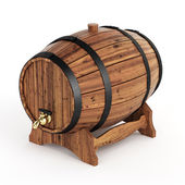 Isolated wine barrel — Stock Photo
