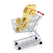 Dollar in the cart — Stock Photo