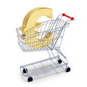 Euroi in the cart — Stock Photo