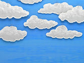 Paper cloud sky — Foto Stock