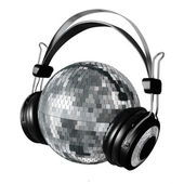 Mirrorball headphones — Stockfoto
