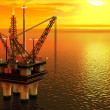 Oil platform in the sea — Stock Photo #43431169