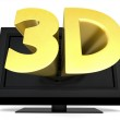 3D television — Stock Photo #43438253