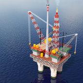 Plataforma petrolífera en el mar — Foto de Stock