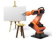 Industrial robot painting — Stock Photo
