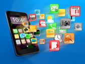 Smartphone apps — Stock Photo