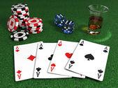 Gangster poker table — Stock Photo