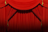 Red stage theater — Stock Photo
