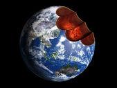 Bitten earth — Stock Photo