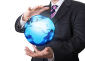 The world in the hands — Stock Photo