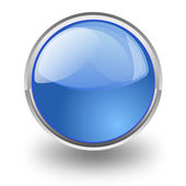 Blue button — Stock Photo