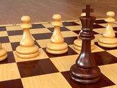 The king and the pawns — Foto Stock