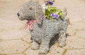 Dog flower pot — Foto Stock