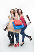 Girl and shopping — Stock Photo