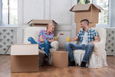 Removal is not easy thing — Stock Photo
