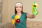 Maid and household chores — Stock Photo