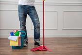 Janitor depriving you from dirt — Stock Photo