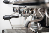 Barista and coffee machine — Stock Photo
