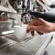 Barista and coffee machine — Stock Photo #51390275