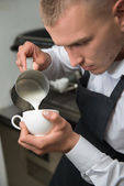 Barista doing your coffee — Stock Photo