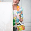 Painter and his art — Stock Photo #51614159