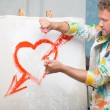 Painter and his art — Stock Photo #51615533